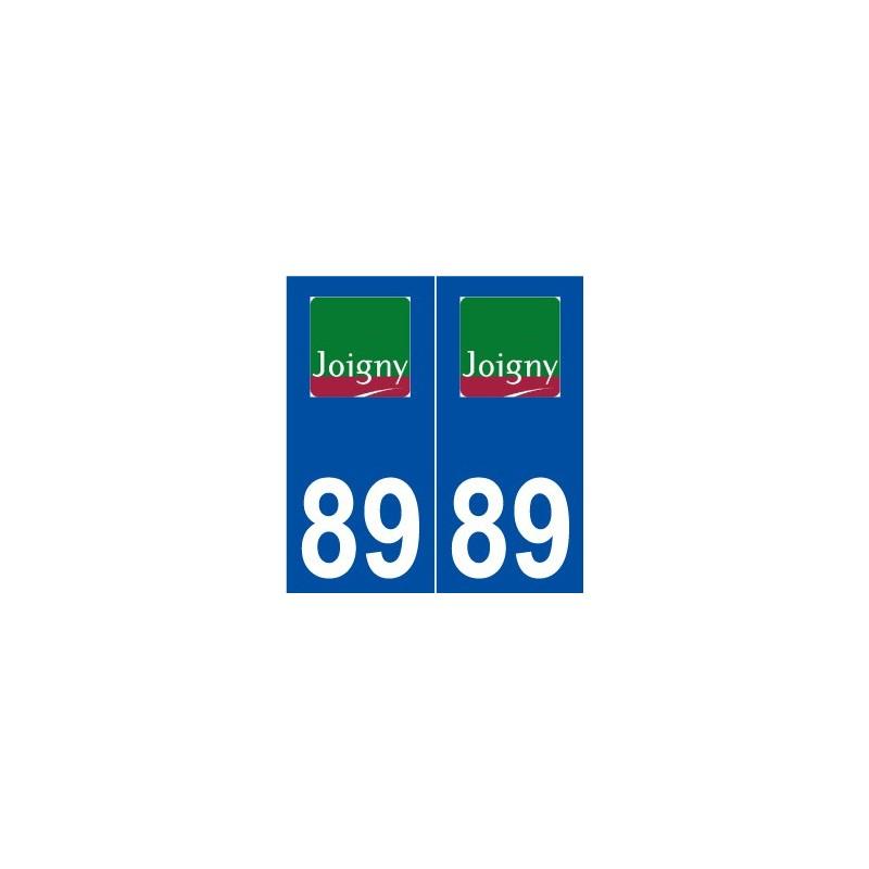 89 joigny logo autocollant plaque immatriculation stickers ville. Black Bedroom Furniture Sets. Home Design Ideas