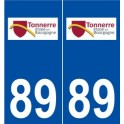 89 Thunder logo sticker plate stickers city