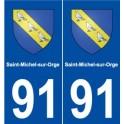 91 Saint-Michel-sur-Orge blason autocollant plaque stickers ville