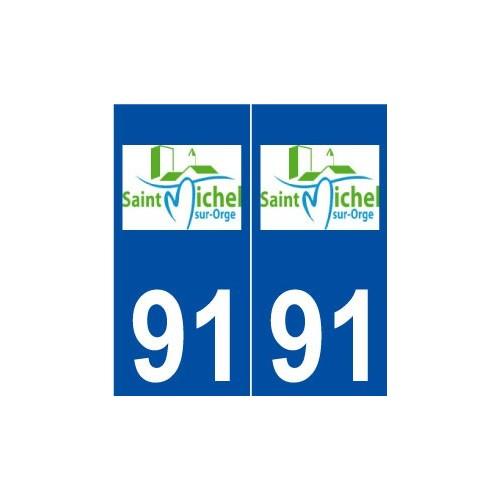 91 Saint-Michel-sur-Orge logo autocollant plaque stickers ville