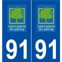 91 Saint-Pierre-du-Perray logo sticker plate stickers city