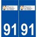 91 Villebon-sur-Yvette logo sticker plate stickers city