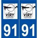 91 Viry-Châtillon logo autocollant plaque stickers ville