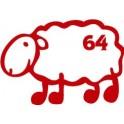 Autocollant mouton basque 64 sticker