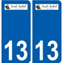 13 Saint-Andiol logo city sticker, plate sticker