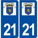 21 Seurre logo autocollant plaque stickers ville