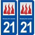 21 Venarey-les-Laumes blason autocollant plaque stickers ville