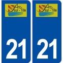 21 Arc-sur-Tille logo autocollant plaque stickers ville