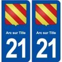 21Arc-sur-Tille coat of arms sticker plate stickers city
