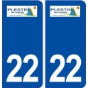 22 Plestin-les-Grèves logo ville autocollant plaque immatriculation département