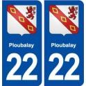 22 Ploubalay blason ville autocollant plaque immatriculation département