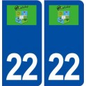 22 Ploubalay logo ville autocollant plaque immatriculation département