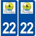 22 Ploumilliau logo ville autocollant plaque sticker