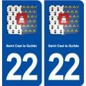 22 Saint Cast le Guildo blason ville autocollant plaque sticker