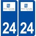 24 Razac-sur-l'Isle logo autocollant plaque stickers département