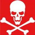 Autocollant tête de mort skull sticker