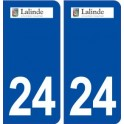 24 Lalinde logo autocollant plaque stickers département