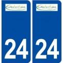 24 La Roche Chalais logo autocollant plaque stickers département