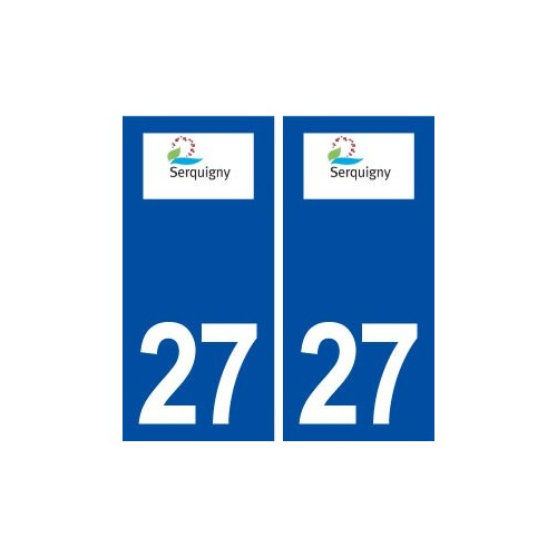 27 Serquigny logo ville autocollant plaque stickers département