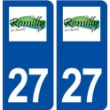27 Romilly on Andelle logo sticker plate stickers city