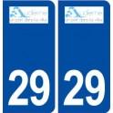 29 Audierne logo sticker plate stickers city
