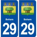 29 Bohars coat of arms sticker plate stickers city