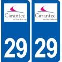 29 Carantec logo autocollant plaque immatriculation stickers ville