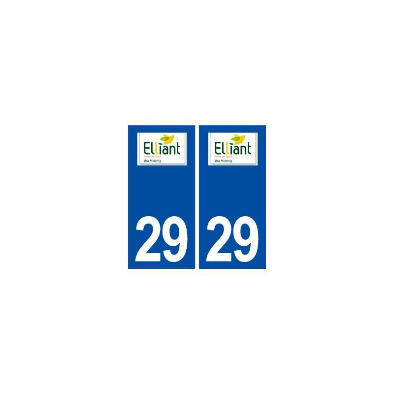 29 elliant logo autocollant plaque immatriculation stickers ville. Black Bedroom Furniture Sets. Home Design Ideas
