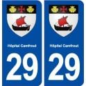29 Hôpital-Camfrout blason autocollant plaque stickers ville