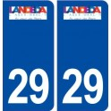 29 Landéda logo sticker plate stickers city