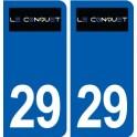 29 Le Conquet logo autocollant plaque stickers ville