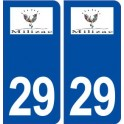 29 Milizac logo sticker plate stickers city