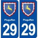 29 Pluguffan blason autocollant plaque stickers ville