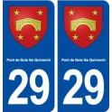 29 Pont de Buis lès Quimerch blason autocollant plaque stickers ville