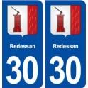 30 Clarensac blason ville autocollant plaque stickers