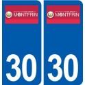 30 Montfrin logo ville autocollant plaque stickers