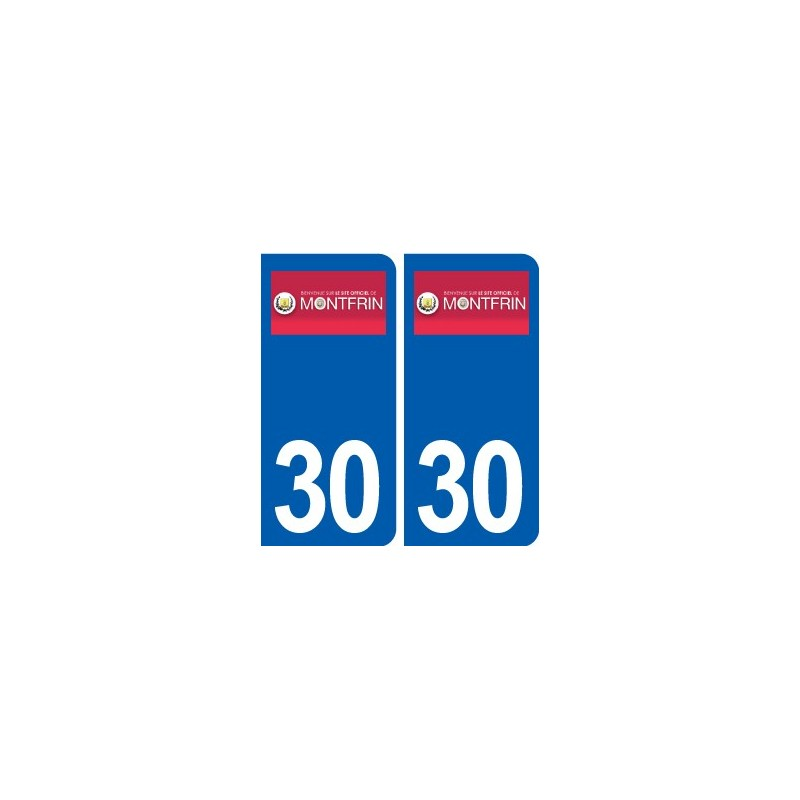 30 montfrin logo ville autocollant plaque immatriculation d partement. Black Bedroom Furniture Sets. Home Design Ideas