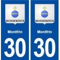 30 Montfrin coat of arms, city sticker, plate sticker