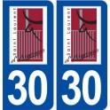 30 Saint Laurent d'Aigouze logo ville autocollant plaque stickers