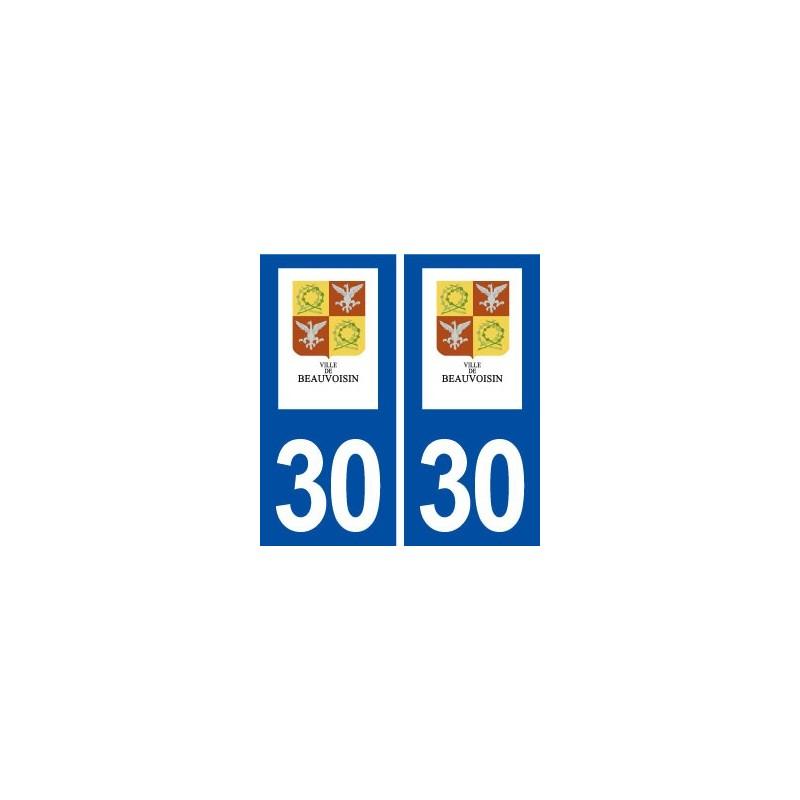 30 beauvoisin logo ville autocollant plaque immatriculation d partement. Black Bedroom Furniture Sets. Home Design Ideas