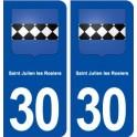 30 Saint Julien les Rosiers coat of arms, city sticker, plate sticker