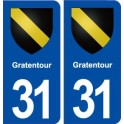 31 Gratentour coat of arms, city sticker, plate sticker