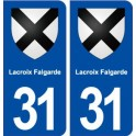 31 Lacroix Falgarde blason ville autocollant plaque stickers
