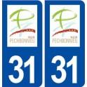 31 Pechbonnieu logo city sticker, plate sticker