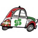 2 CV voitue Basque autocollant sticker adhesif