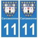 11 Carcassonne ville autocollant plaque