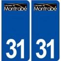 31 Montrabé logo ville autocollant plaque stickers