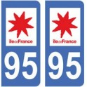 95 Val d'Oise autocollant plaque