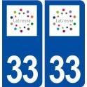 33 Latresne logo ville autocollant plaque stickers
