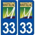 33 Martillac logo city sticker, plate sticker